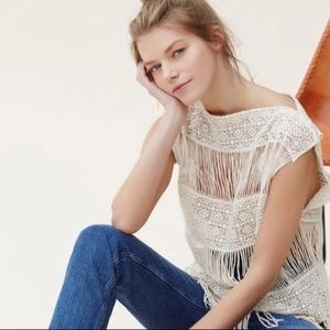 Callahan Crochet Fringe Top {Anthropologie}